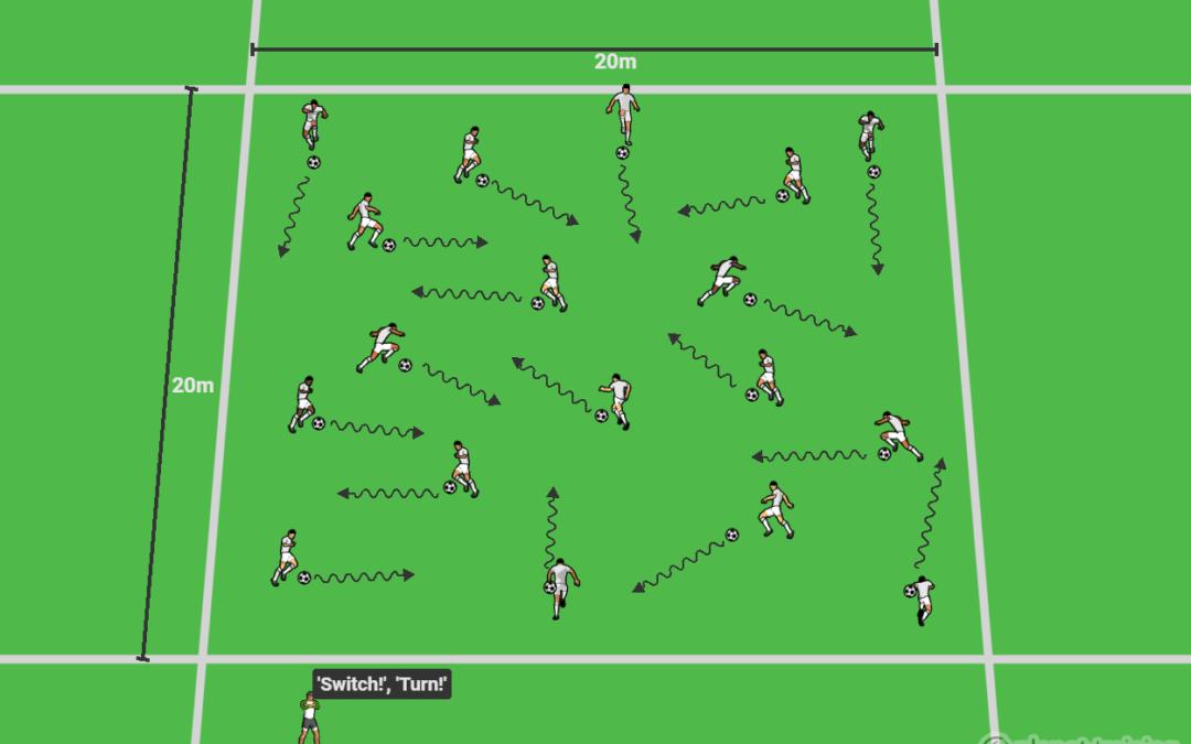 Ball mastery when dribbling – U13-U17+